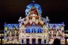 Lichtshow am Bundeshaus in Bern