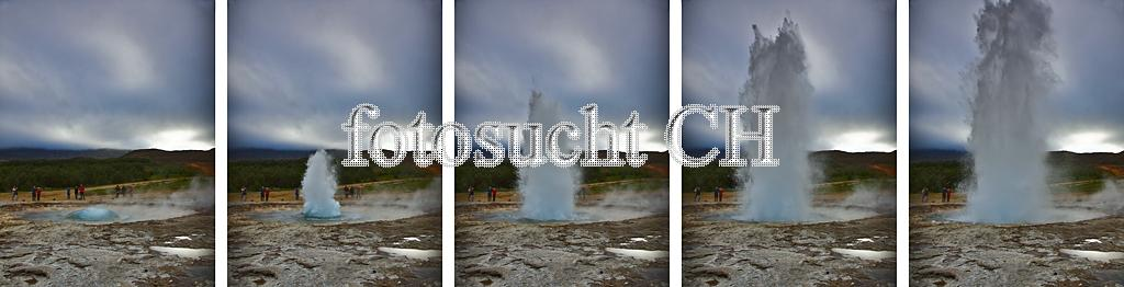 Geysir in 5 Stufen
